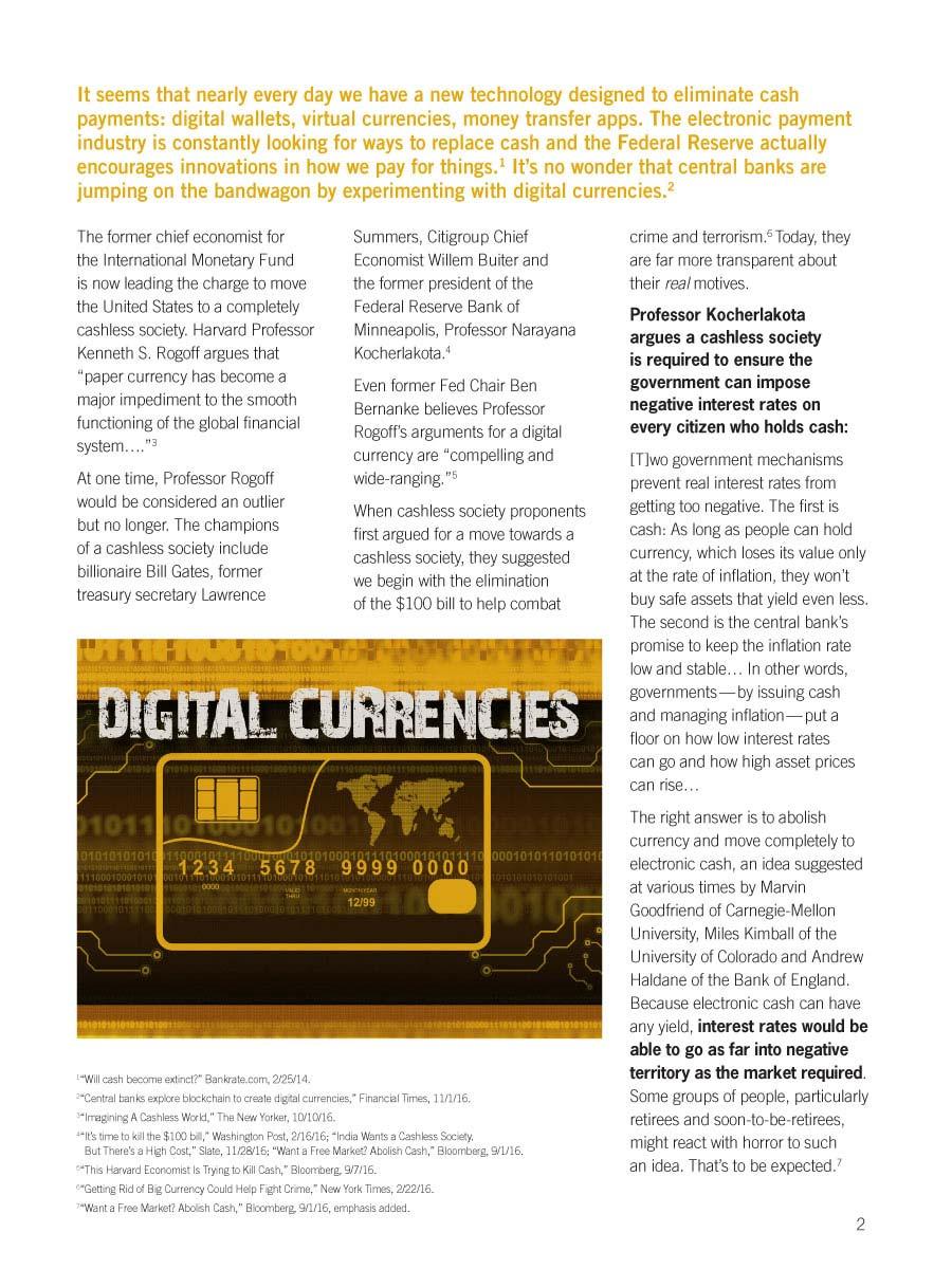 Cashless Society Digital Brochure | Goldline